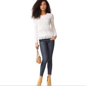 Rails Natalie Fringe Cashmere Blend Sweater